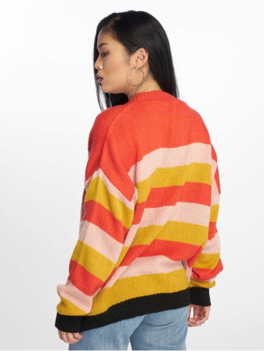 Missguided Tröja Colourblock Stripe röd