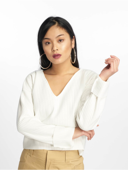 Missguided Tröja Boxy Drop Shoulder vit