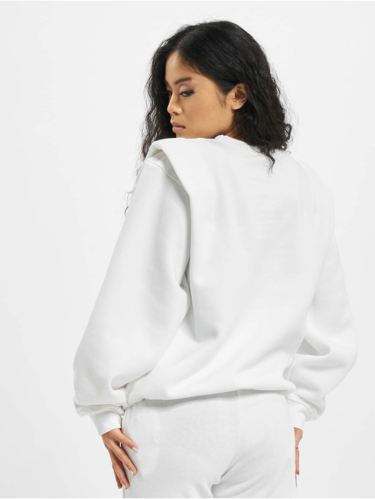 Missguided Tröja Shoulder Detail Toggle vit