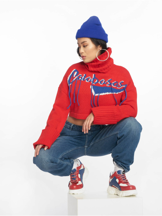 Missguided trui Calabasas Tassel rood