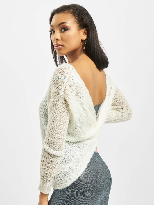 Missguided trui Twist Back wit