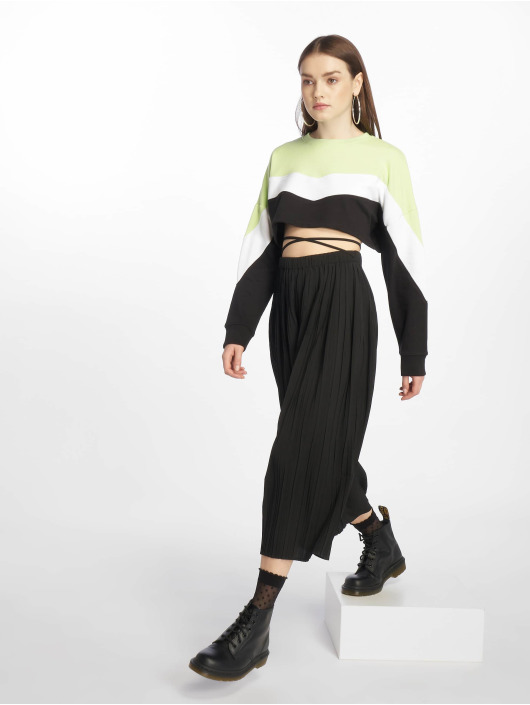 Missguided trui Petite Colourblock zwart