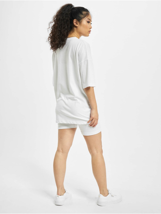 Missguided Tuta Coord Tshirt & Cycling bianco