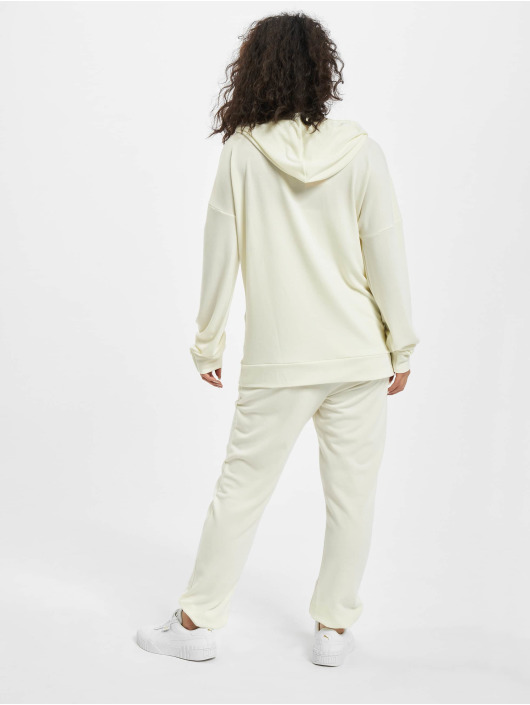 Missguided Tuta Petite Hoody And Jogger bianco