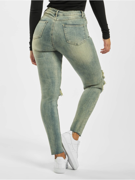 Missguided Tynne bukser Sinner High Knee blå