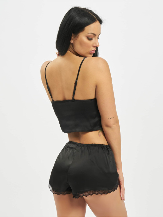 Missguided Underwear Playboy Satin Lace Trim Cami black