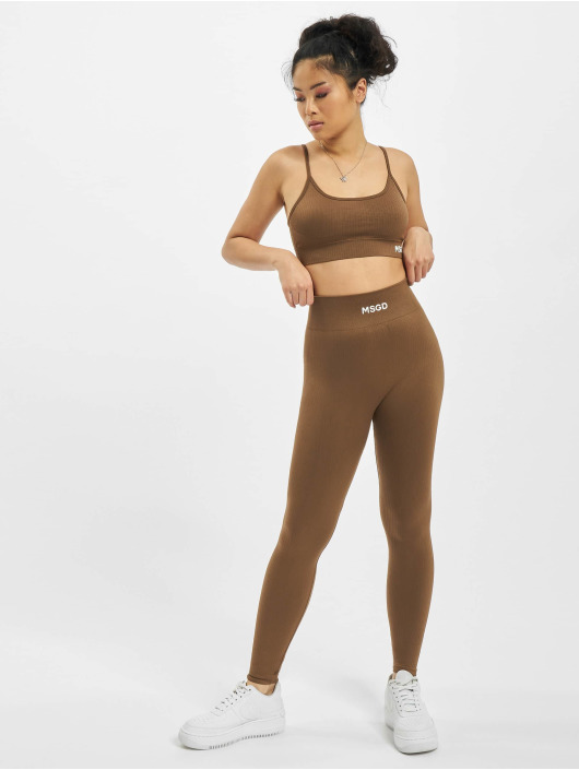 Missguided Underwear Seamless Rib brown