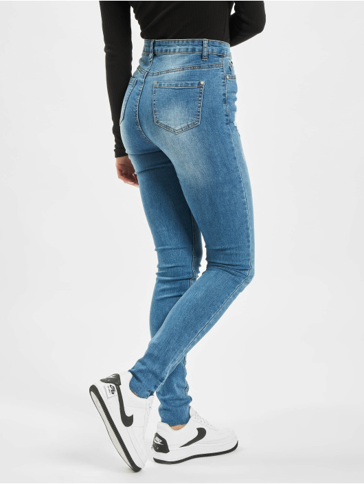 Missguided Vaqueros pitillos Tall Sinner Clean Distress azul