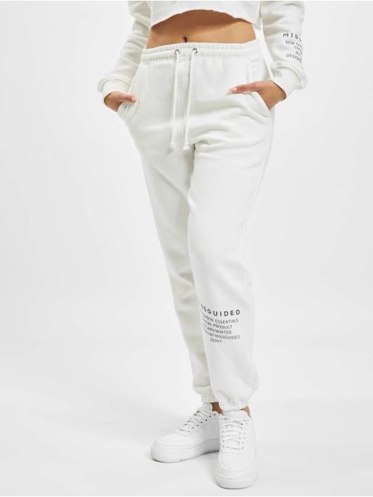 Missguided Verryttelyhousut Mishort Sleeveguided Branded valkoinen