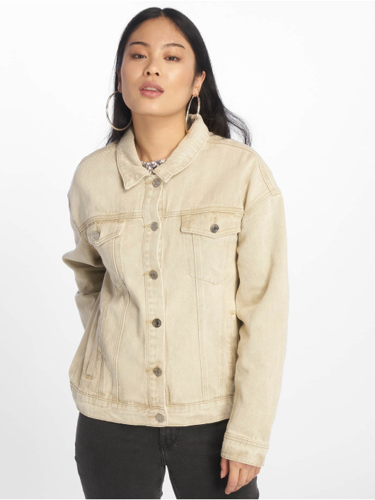 Missguided Veste Jean Oversized Denim beige