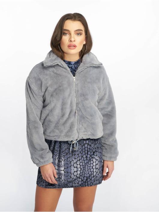 Missguided Veste mi-saison légère Faux Fur gris