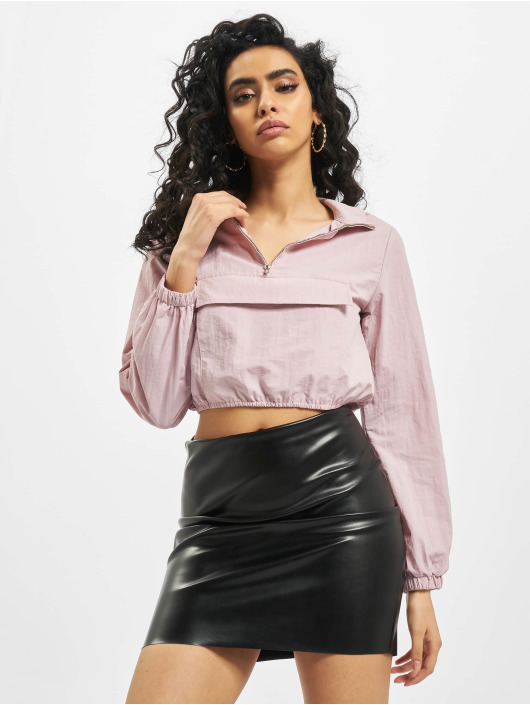 Missguided Veste mi-saison légère Shell Front Pocket Crop pourpre