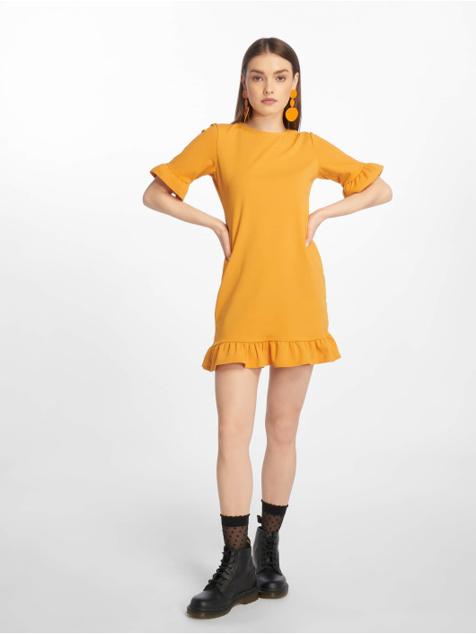 Missguided Vestido Frill Detail Shift amarillo