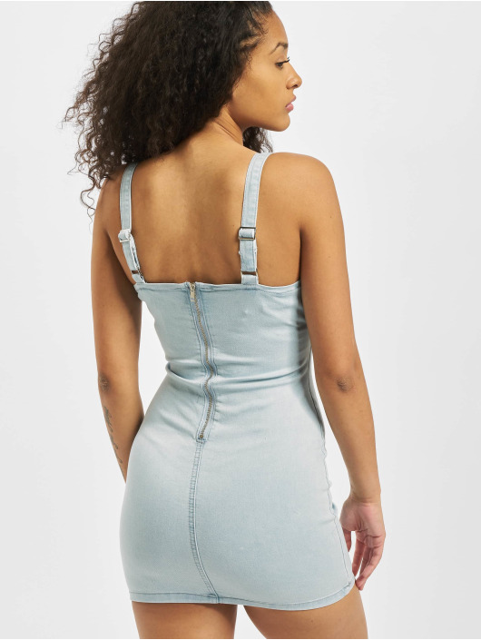 Missguided Vestido Ruched azul