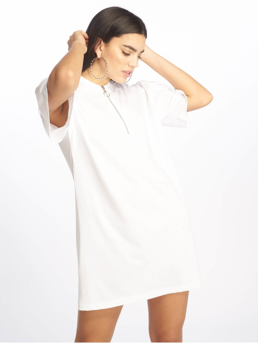 Missguided Vestido Oversized SS blanco