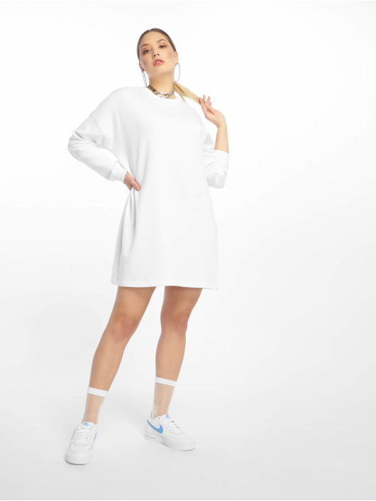 Missguided Vestido Basic Sweater blanco