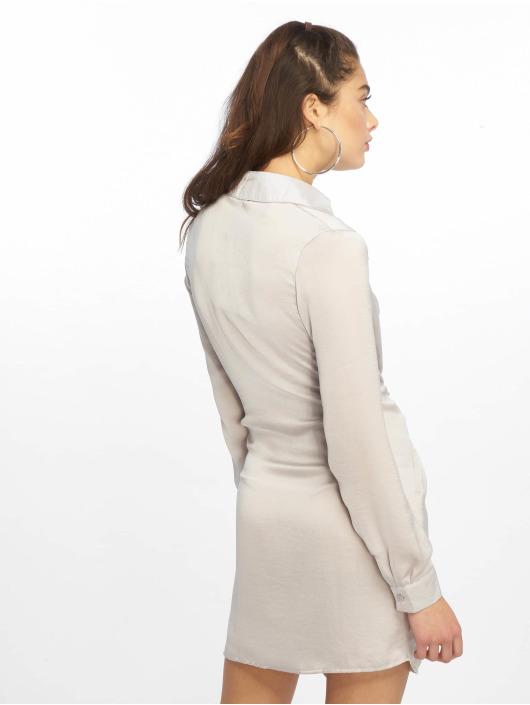 Missguided Vestido Tie Waist gris