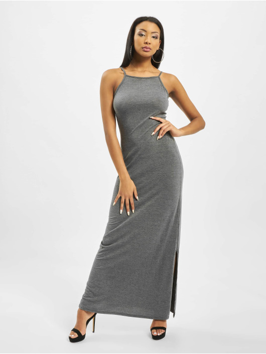 Missguided Vestido Tall Side Split High Neck gris
