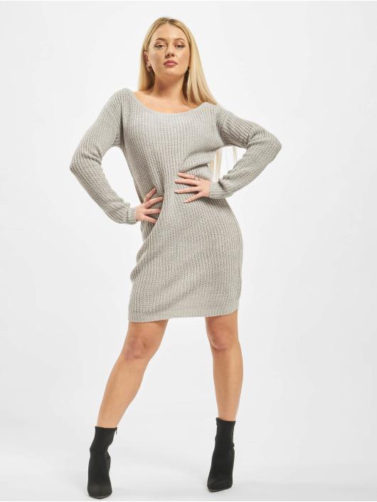 Missguided Vestido Ayvan Off Shoulder Jumper gris
