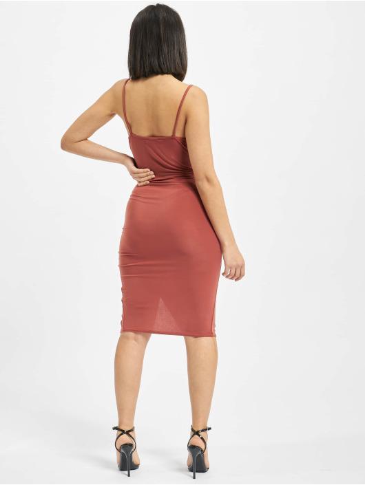 Missguided Vestido Strappy Slinky Wrap Bodycon marrón