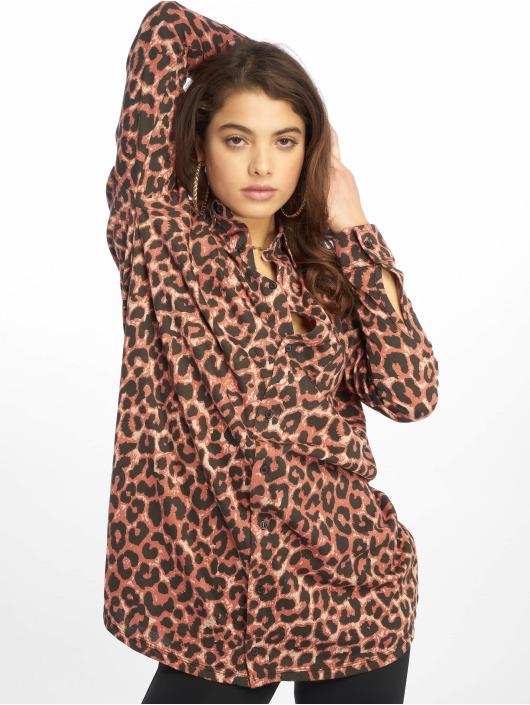 Missguided Vestido Oversized Jersey marrón