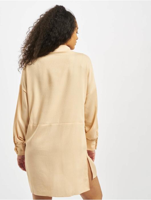 Missguided Vestido Textured Utility naranja