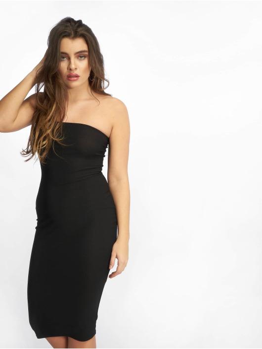 Missguided Vestido Bandeau negro