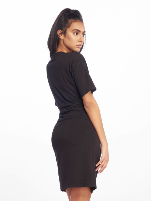 Missguided Vestido Oversized T Shirt negro