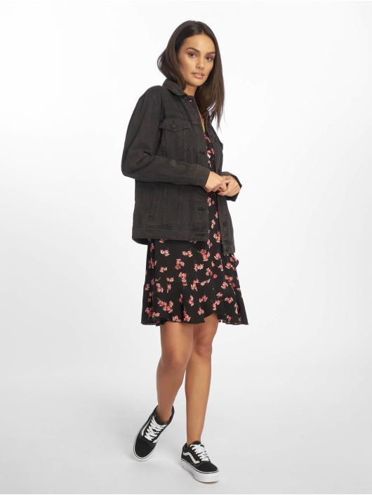 Missguided Vestido Floral Frill negro
