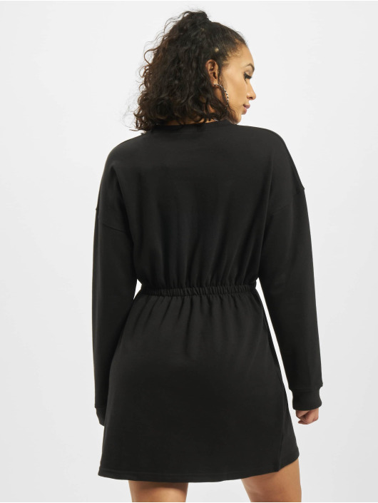 Missguided Vestido Ruched Waist And Cuff negro