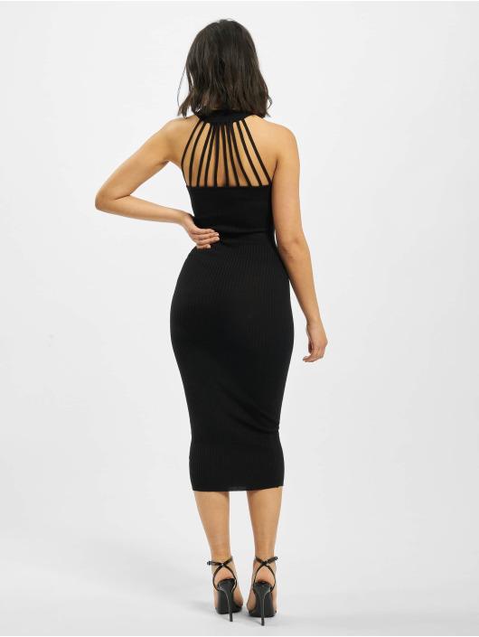 Missguided Vestido High Neck Back Neck Detail negro