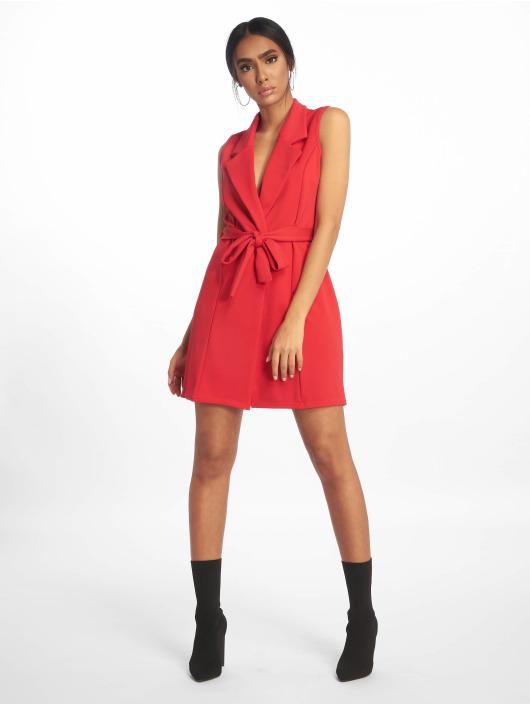 Missguided Vestido Sleeveless Blazer rojo