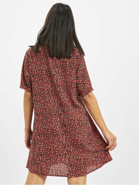 Missguided Vestido Button Thru Smock Floral rojo