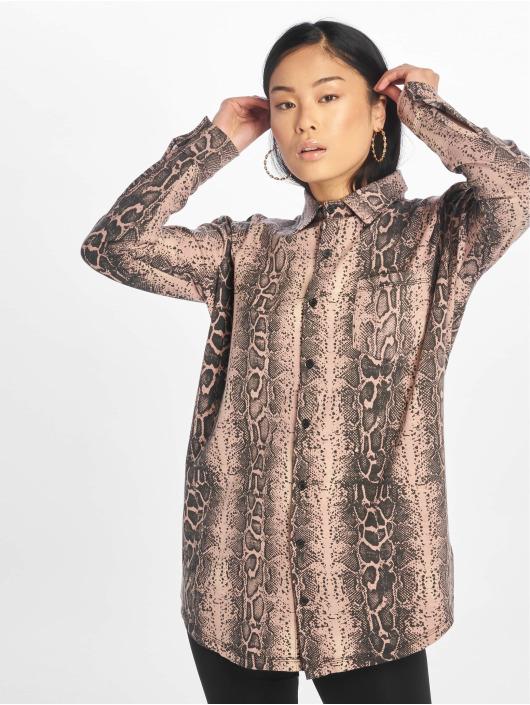 Missguided Vestido Oversized Ls Jersey rosa
