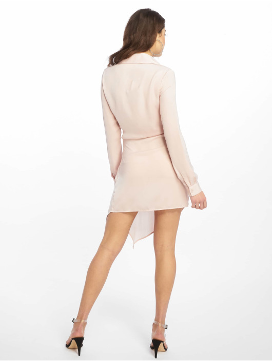 Missguided Vestido Tie Waist rosa