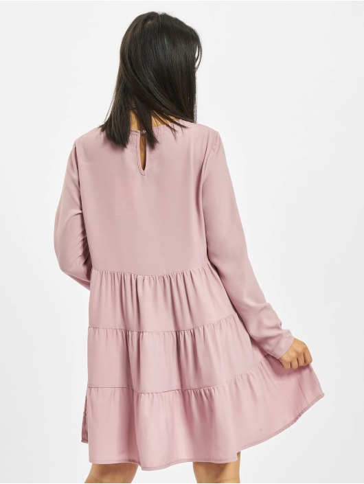 Missguided Vestido Tiered rosa