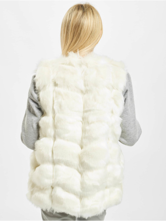 Missguided Weste Bubble Gilet weiß