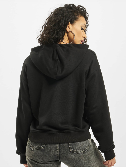 Missguided Zip Hoodie Zip Through czarny