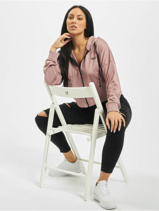 Missguided Zip Hoodie Front fioletowy