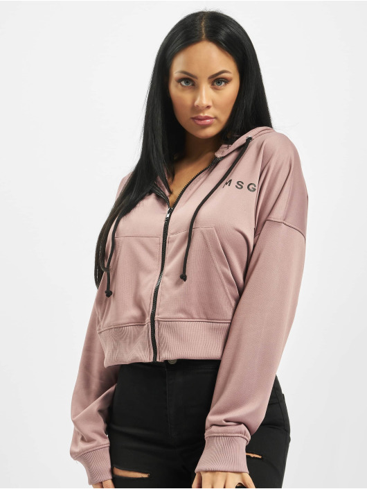 Missguided Zip Hoodie Front lilla