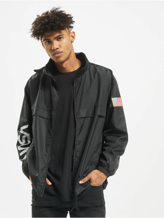 Mister Tee Демисезонная куртка NASA Worm Logo Nylon черный