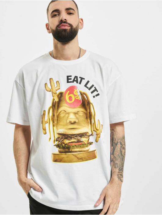 Mister Tee Футболка Eat Lit Oversize белый