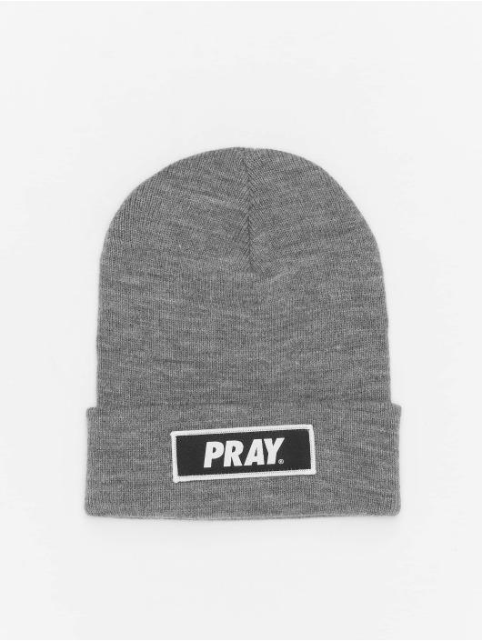 Mister Tee шляпа Pray серый
