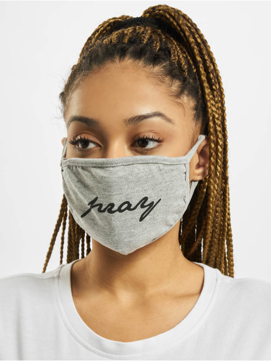 Mister Tee Autres Pray Wording Fask Mask gris