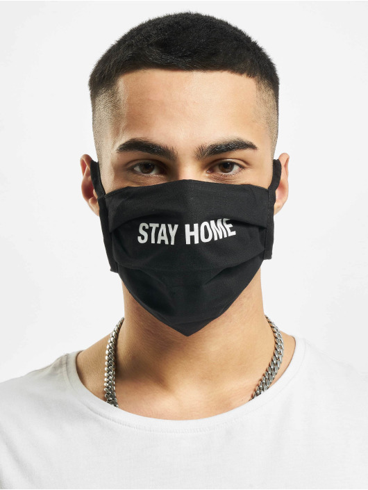 Mister Tee Autres Stay Home Face Mask noir