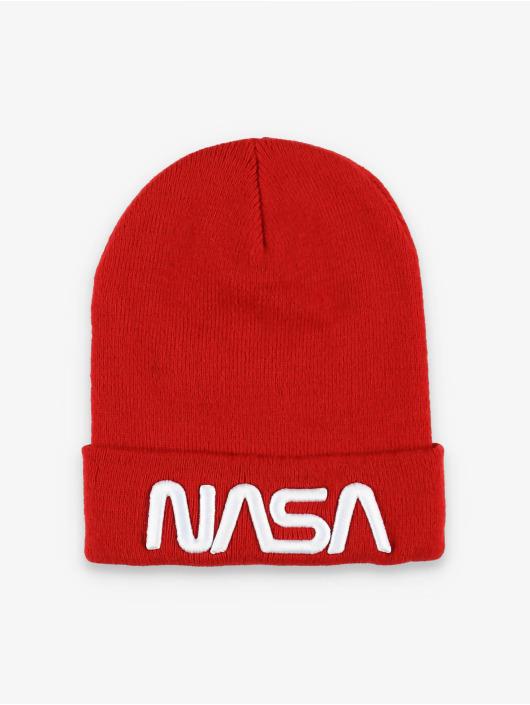 Mister Tee Beanie NASA Worm Logo röd