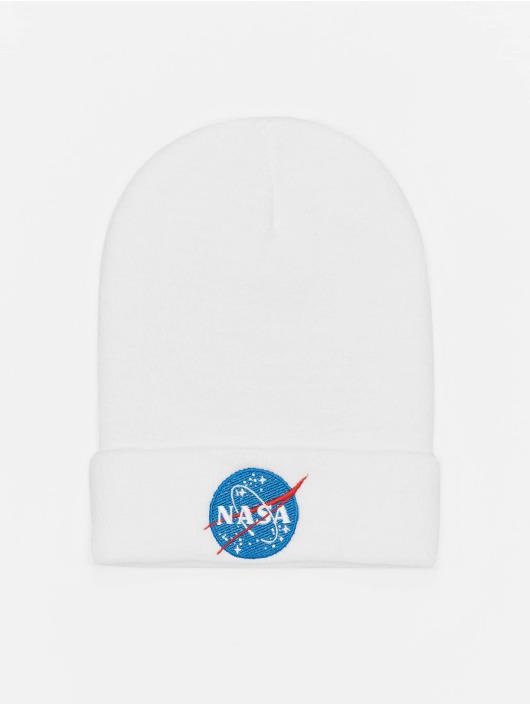 Mister Tee Beanie NASA Insignia weiß