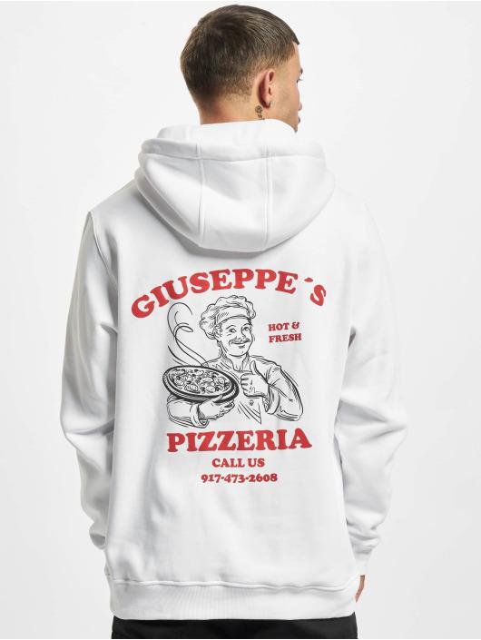 Mister Tee Bluzy z kapturem Giuseppe's Pizzeria bialy