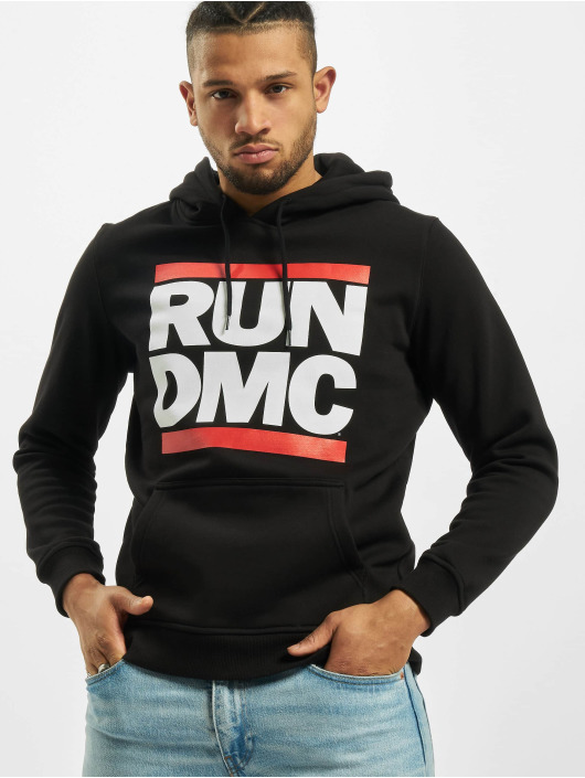 Mister Tee Bluzy z kapturem Run DMC Logo czarny