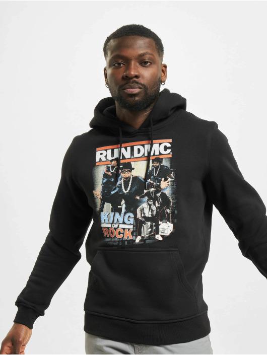 Mister Tee Bluzy z kapturem Run DMC King of Rock czarny